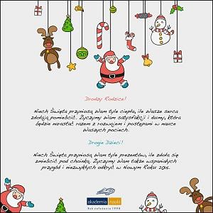 copywriting na kartkę świąteczną