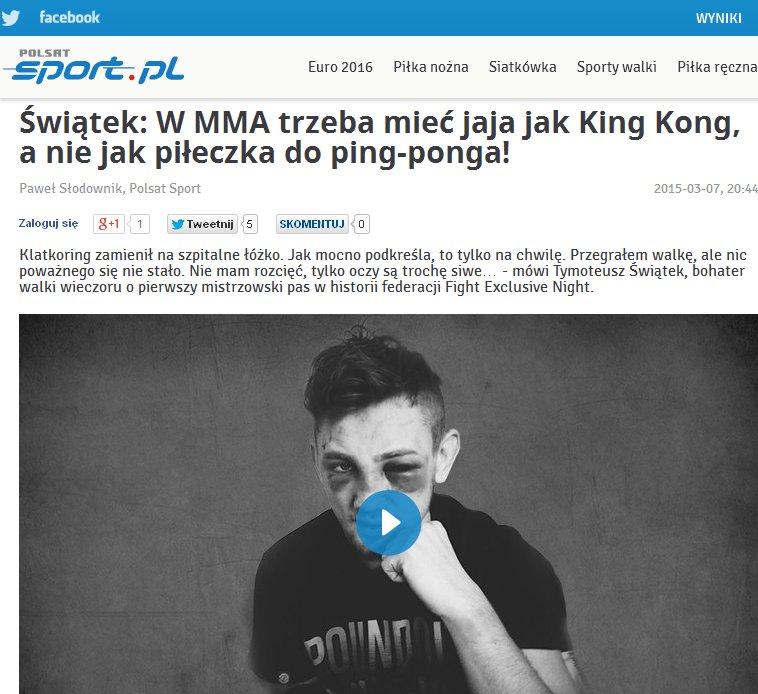 Reportaż Pawła Słodownika na stronie polsatsport.pl